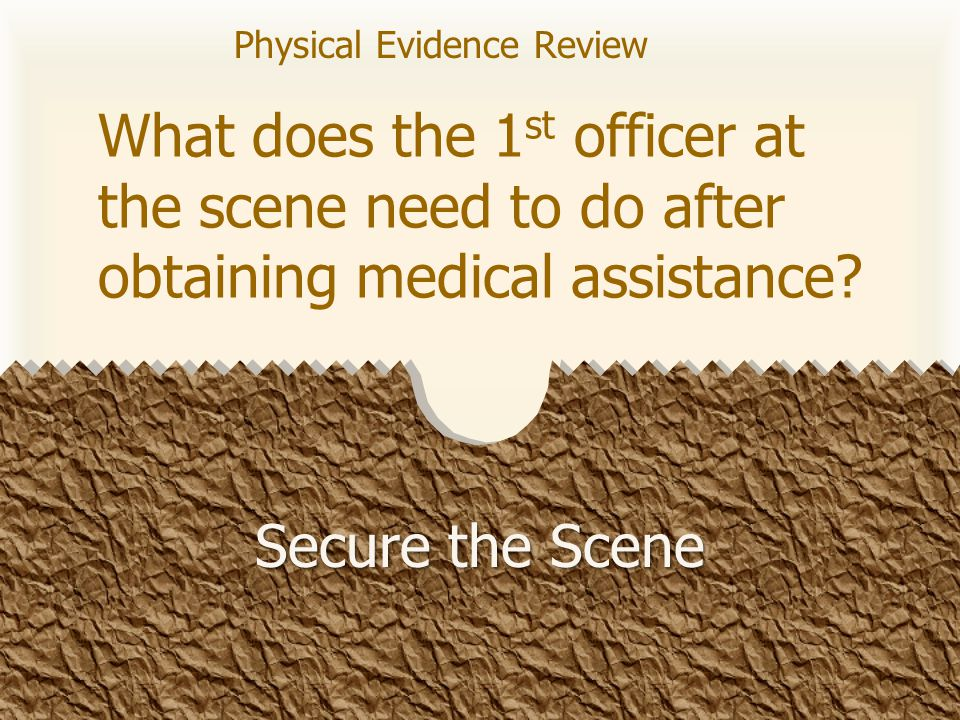 What is the definition of physical evidence.