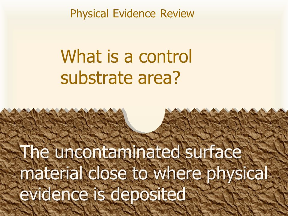What is a control substrate area.