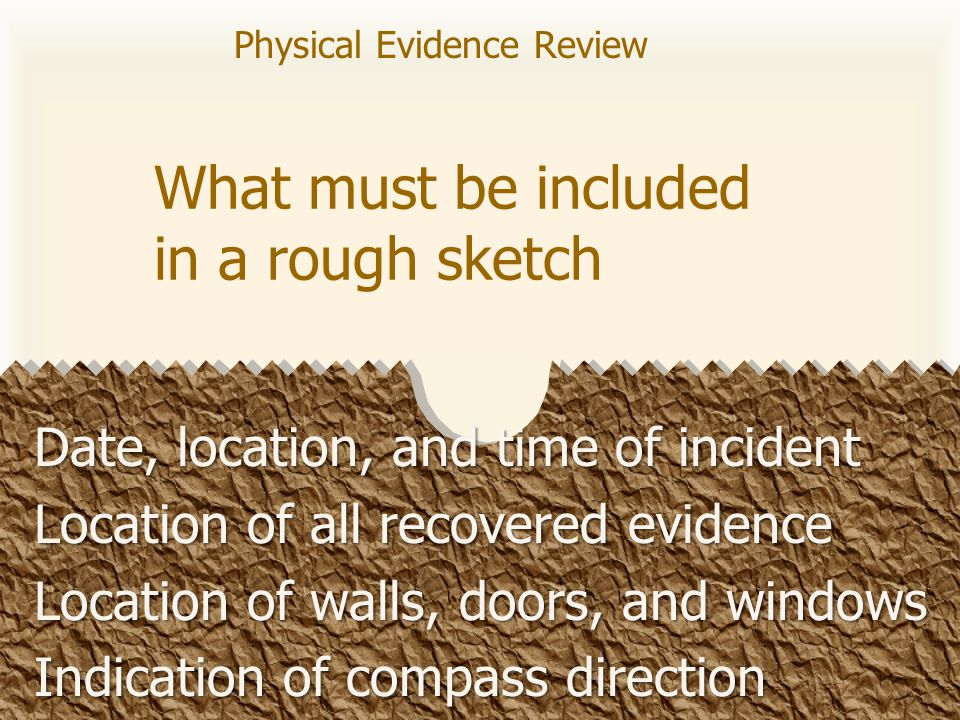 What type of evidence is usually found at an arson case.
