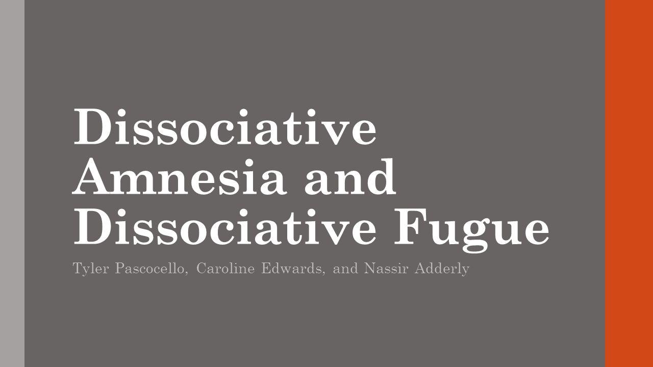 What is Dissociative Amnesia.