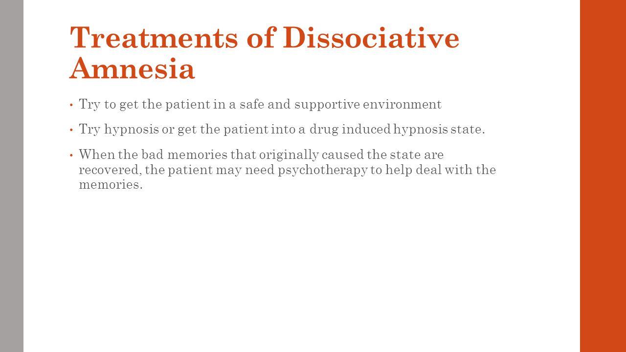 Complications of Dissociative Amnesia Dissociative amnesia will interfere with a person's general life.