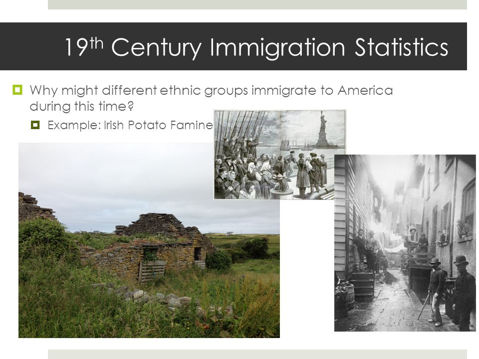  Why might different ethnic groups immigrate to America during this time.