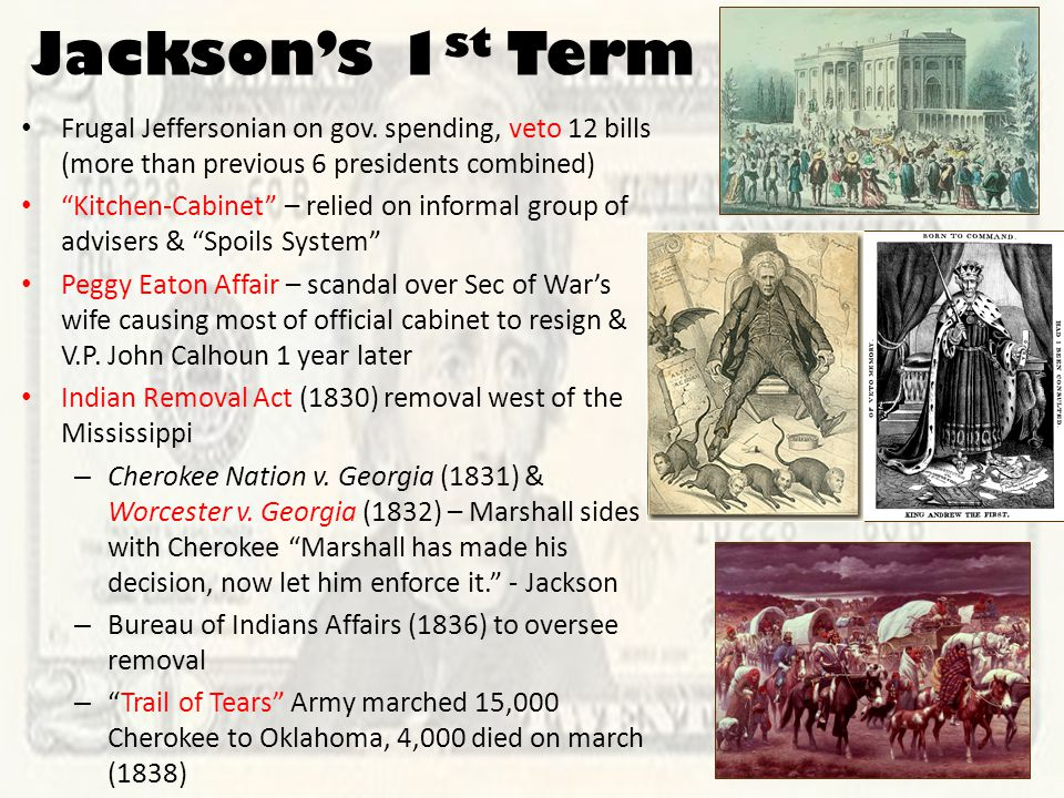 Jackson's 1 st Term Frugal Jeffersonian on gov.