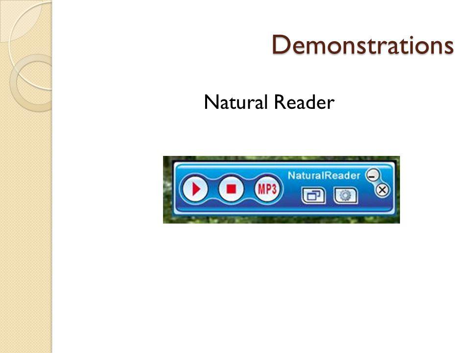 Demonstrations Natural Reader