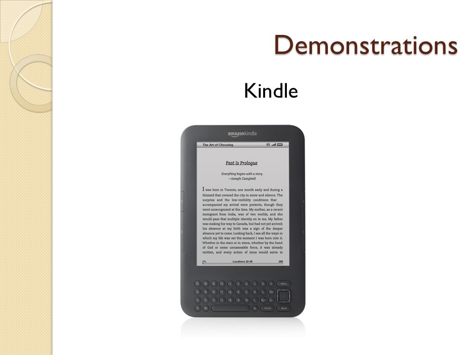 Demonstrations Kindle