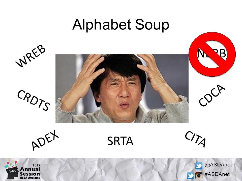 @ASDAnet #ASDAnet Alphabet Soup WREB NERB CDCA CRDTS CITA ADEX SRTA