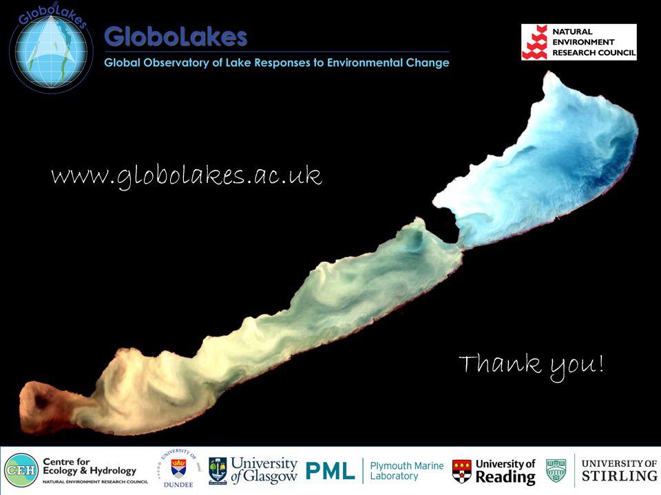 Thank you! www.globolakes.ac.uk