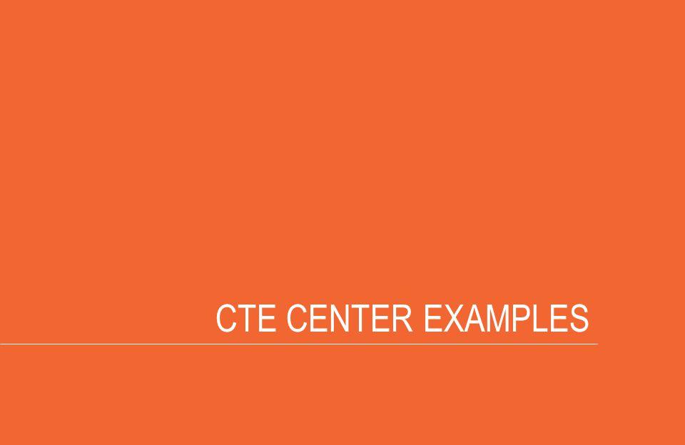 CTE CENTER EXAMPLES