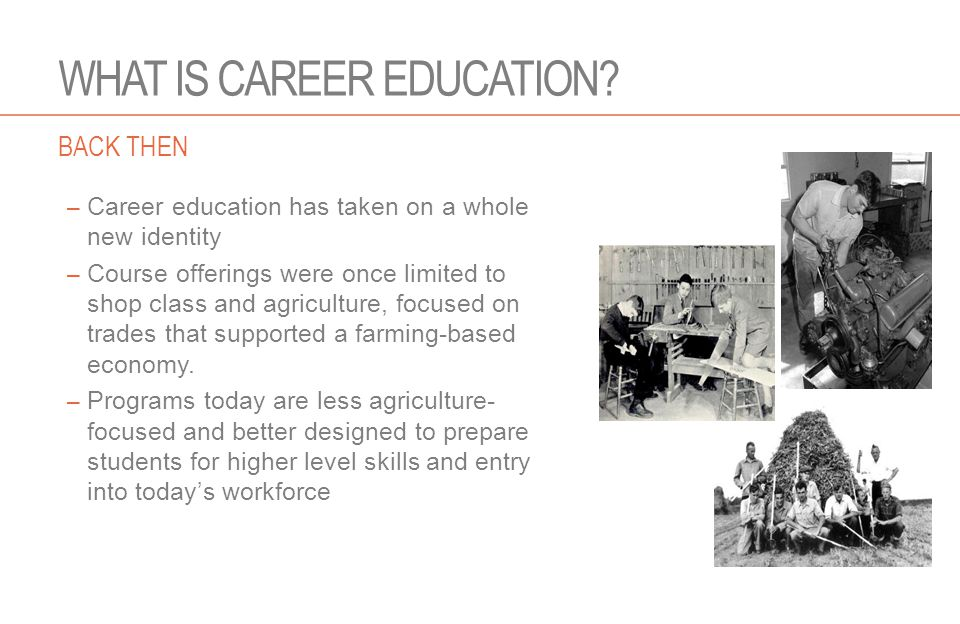 WHAT IS CAREER EDUCATION.