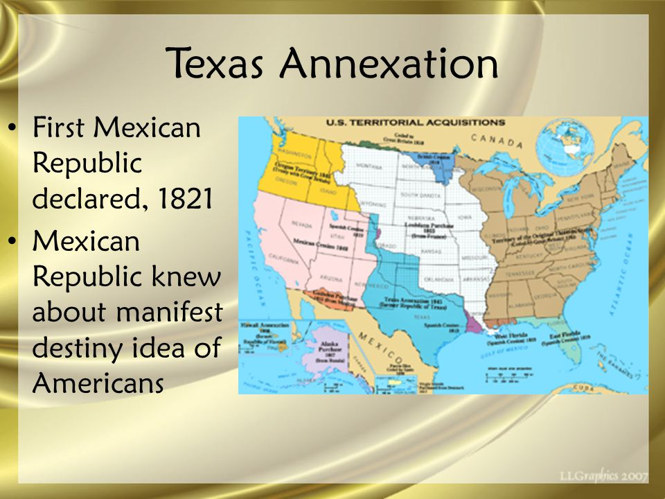 Mexican –American War (1846-48) Polk provoked war – Placed Gen.