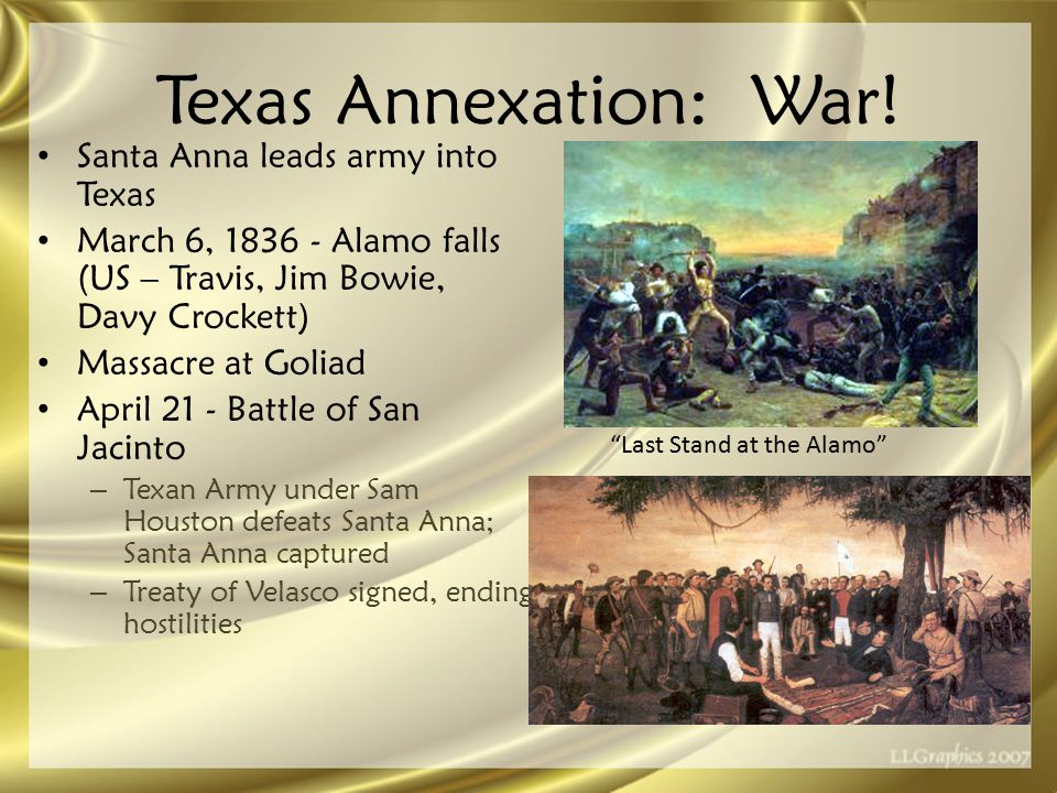 Texas Annexation: War.