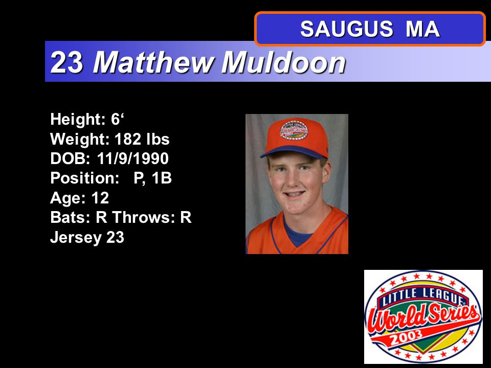 Height: 5 1 Weight: 133 lbs DOB: 4/5/1991 Position: 3B Age: 12 Bats: R Throws: R Jersey 18 18 Yano Petruzzelli SAUGUS MA