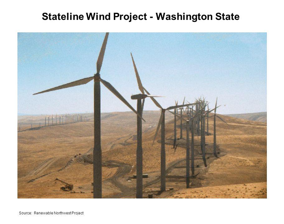 Stateline Wind Project - Washington State Source: Renewable Northwest Project