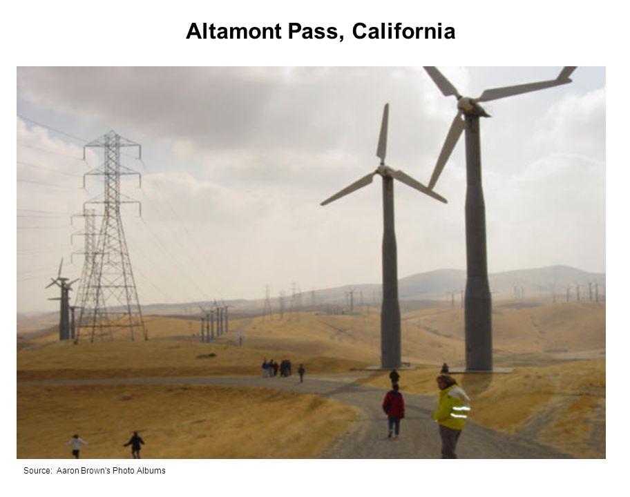 Altamont Pass, California Source: Aaron Brown s Photo Albums