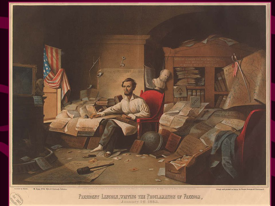 The Emancipation Proclamation Now, therefore I, Abraham Lincoln, President of the United States, by virtue of the power in me vested as Commander-in-C