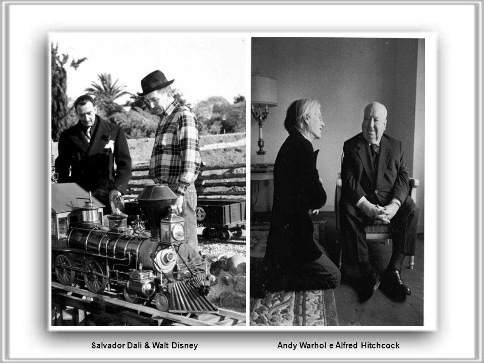 Andy Warhol e Alfred Hitchcock Salvador Dali & Walt Disney