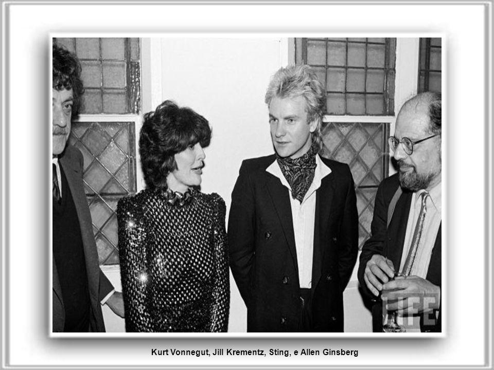 Kurt Vonnegut, Jill Krementz, Sting, e Allen Ginsberg
