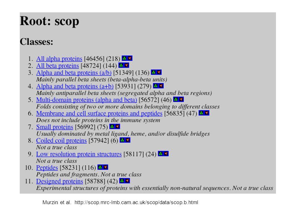Murzin et al. http://scop.mrc-lmb.cam.ac.uk/scop/data/scop.b.html