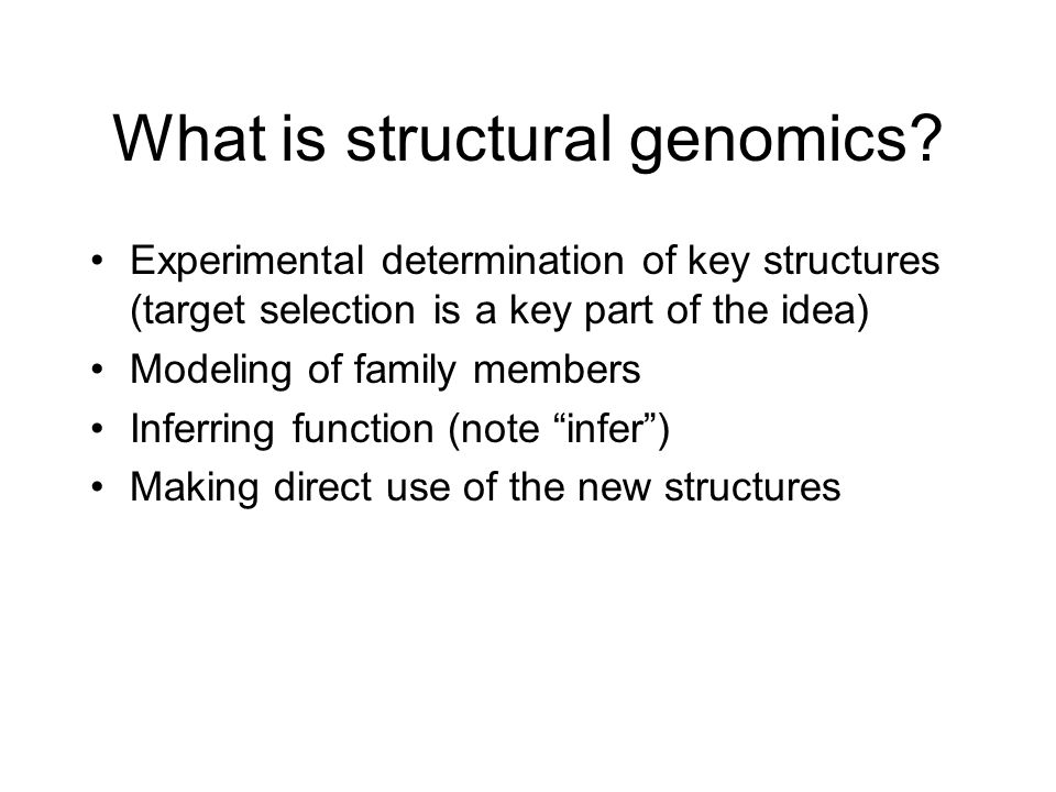 What is structural genomics.