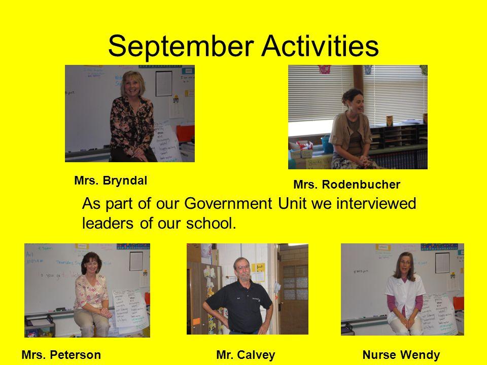 September Our class in September