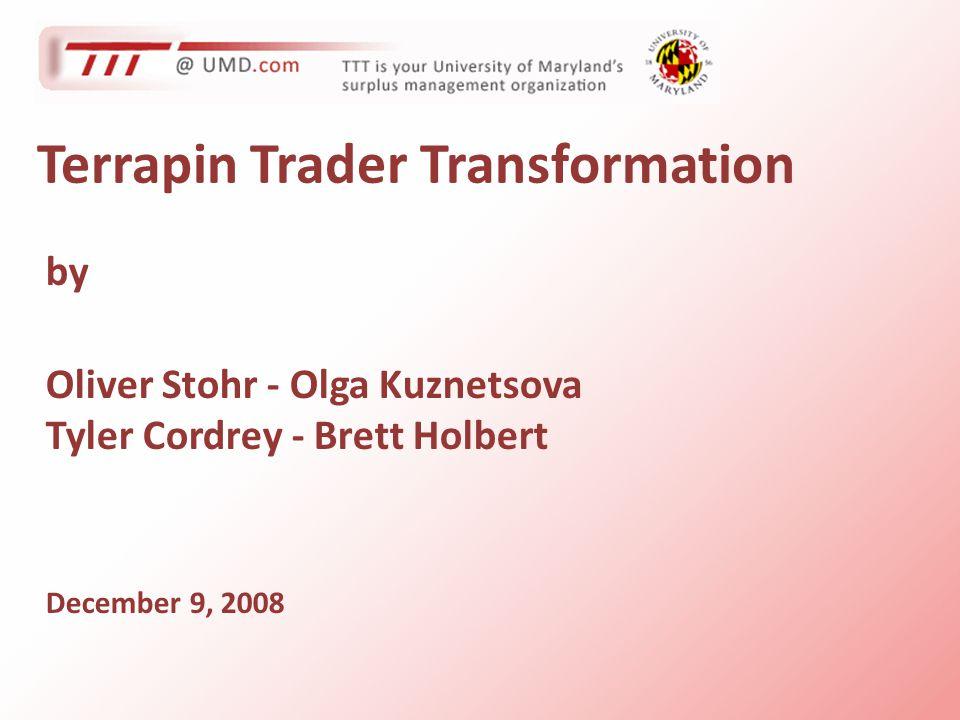 Terrapin Trader Transformation by Oliver Stohr - Olga Kuznetsova Tyler Cordrey - Brett Holbert December 9, 2008