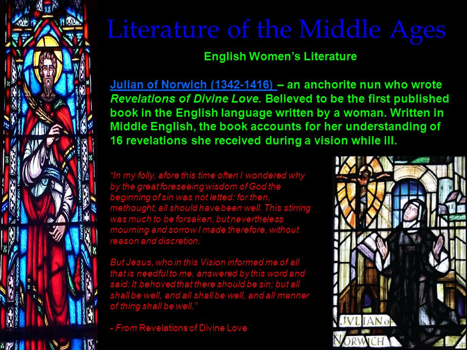 Literature of the Middle Ages Morality and Mystery Plays Mystery Plays Mystery Plays – a series of shows, typically performed in villages by the local guild members once a year, that depicted the events of the Bible from Creation to Judgment on movable wagons.