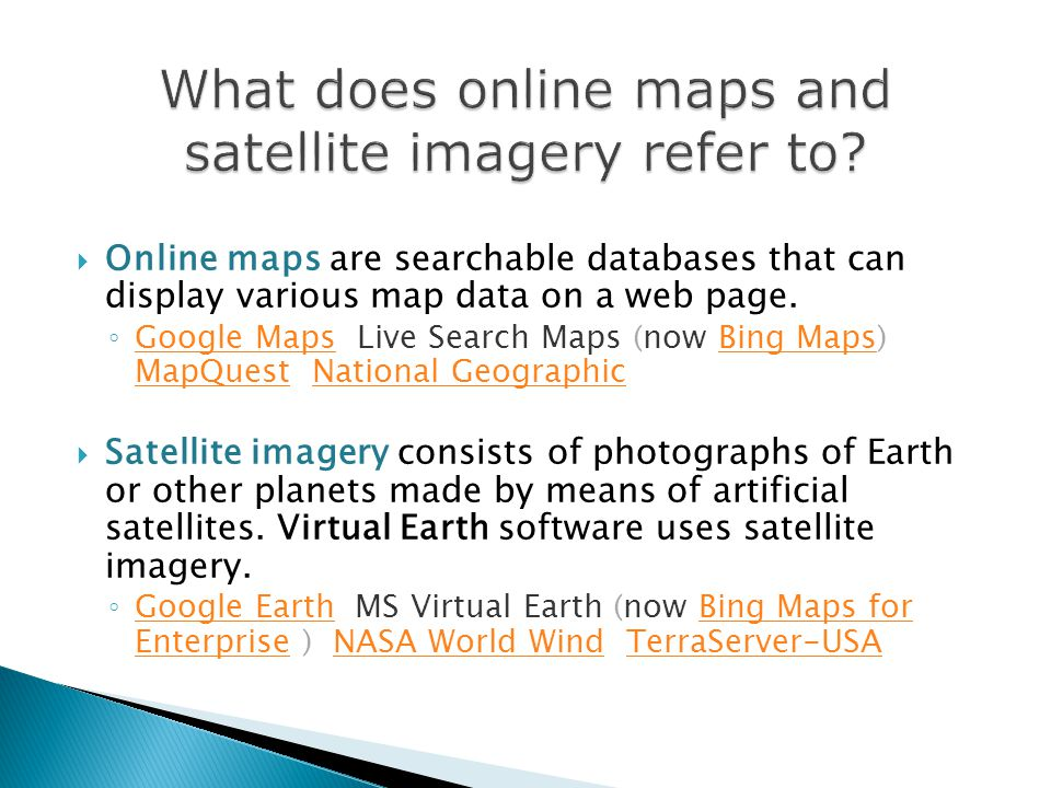 satellite online map