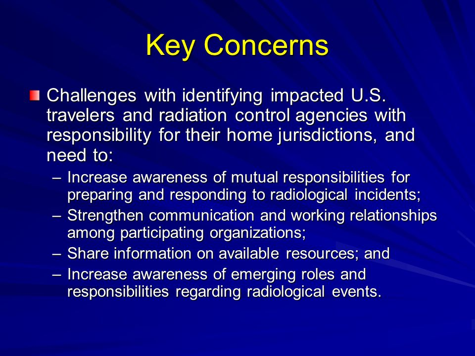 Key Concerns Challenges with identifying impacted U.S.