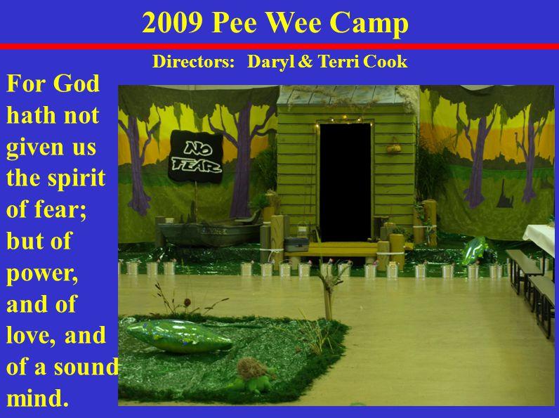 Statistics 2009 Summer Camps Camp Pee Wee Senior Junior Totals 48 20 58 126 39 10 41 90 0 10 31 41 46 10 50 106 62 96 102 260 SanctifiedHoly GhostWater BaptismCampersSaved
