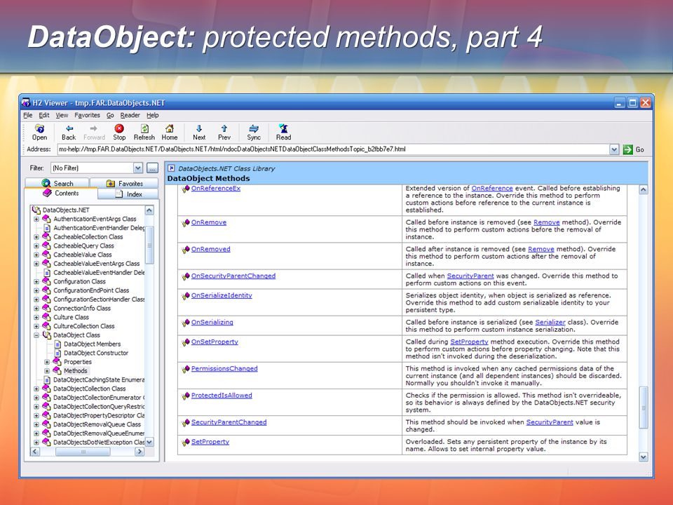 DataObject: protected methods, part 4