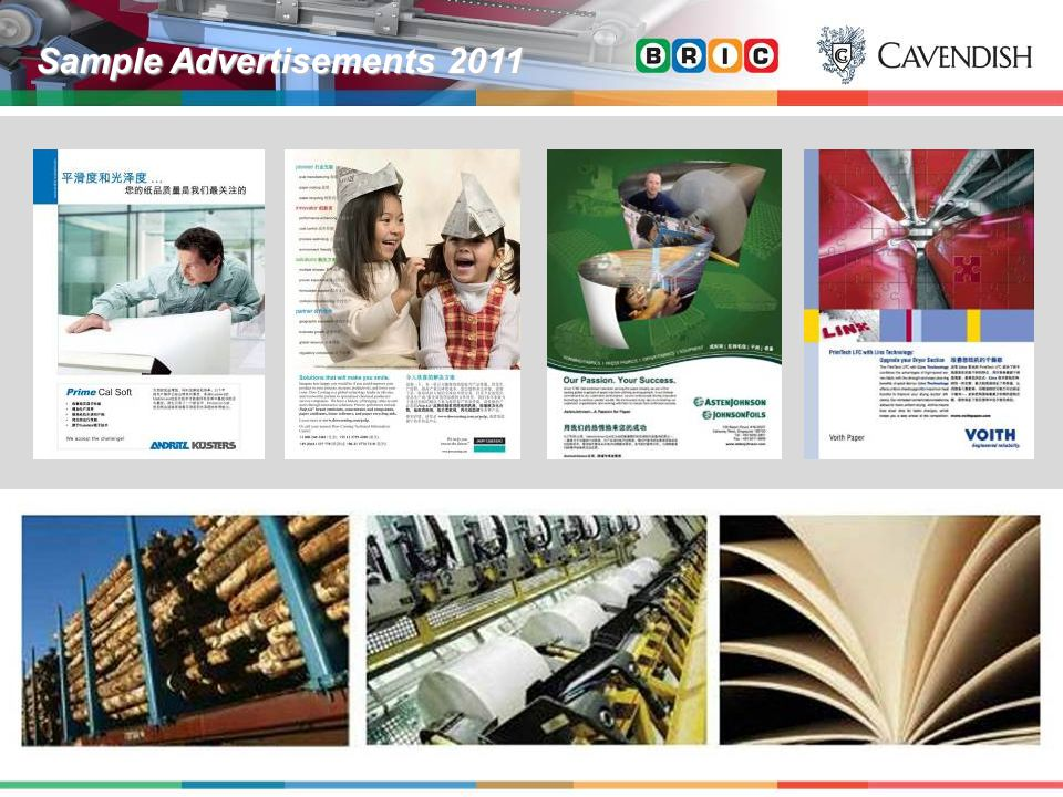 Sample Advertisements 2011