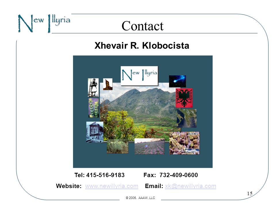 15 Contact Xhevair R.