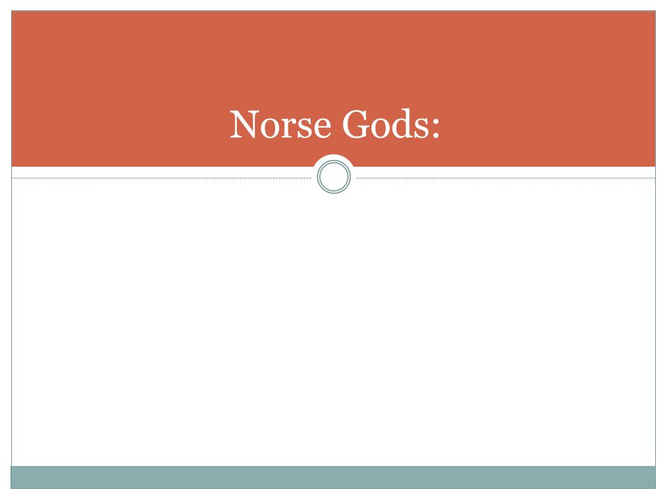 Norse Gods: