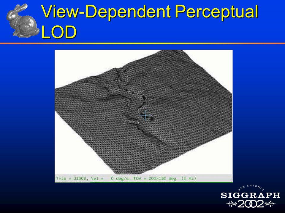 View-Dependent Perceptual LOD