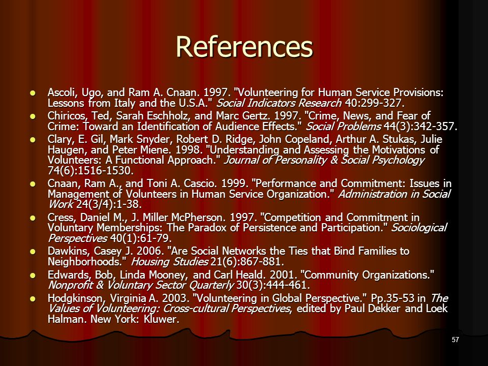 References Ascoli, Ugo, and Ram A. Cnaan. 1997.