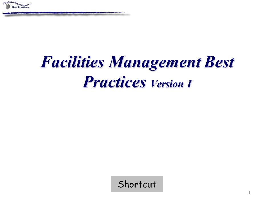 2 Directions This CD-ROM is meant to assist with review of the most current applications of facility management practices in the areas of Compliance, PDC, O&M, Finance, and Administration.