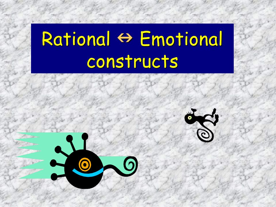 Rational Emotional constructs