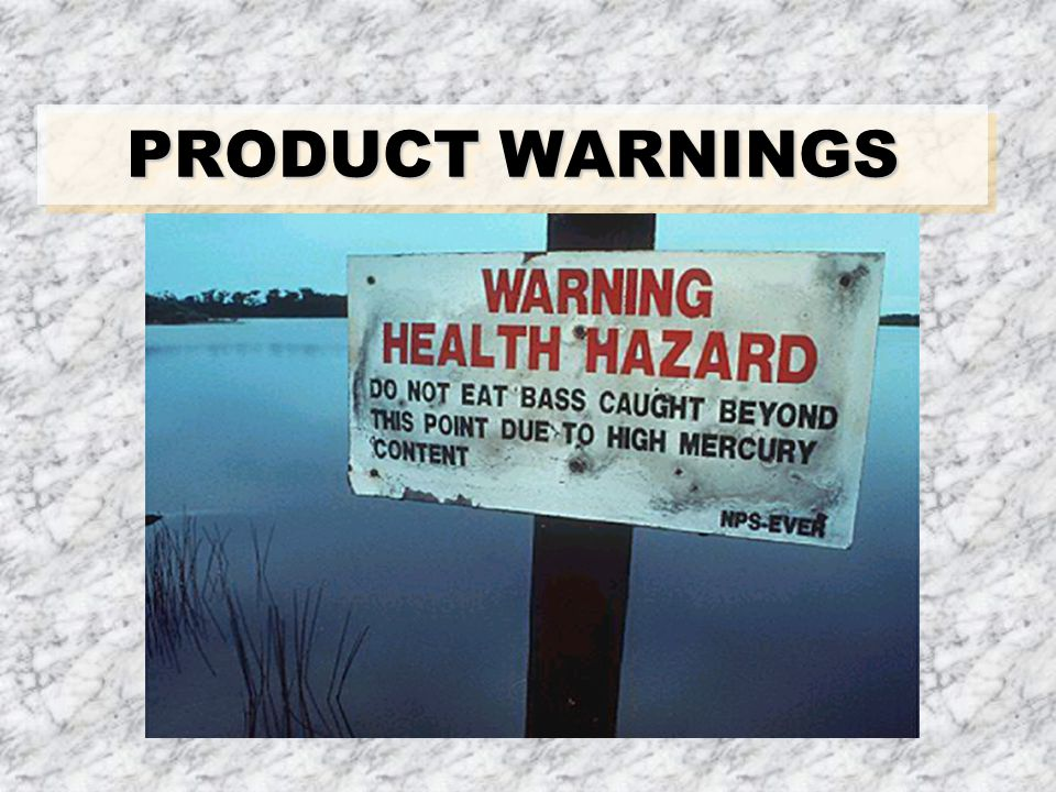 PRODUCT WARNINGS