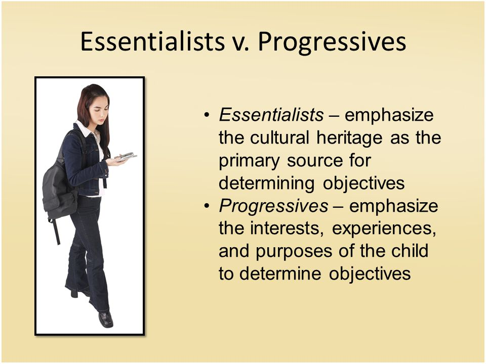Essentialists v.