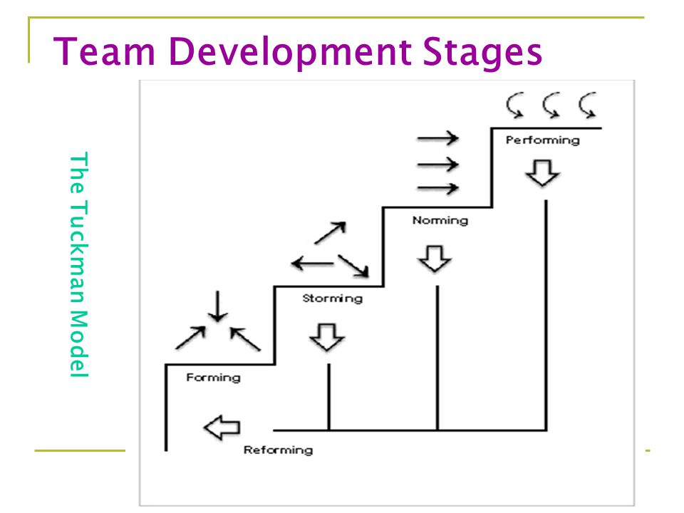 5 The Tuckman Model Team Development Stages