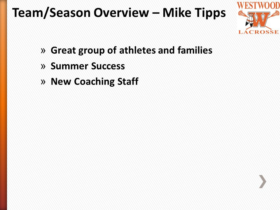 » Great group of athletes and families » Summer Success » New Coaching Staff Team/Season Overview – Mike Tipps