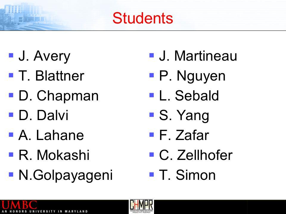 Students  J. Avery  T. Blattner  D. Chapman  D.
