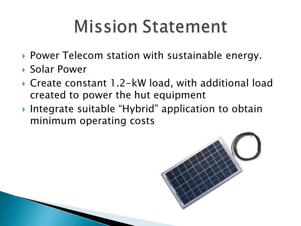  Power Telecom station with sustainable energy.
