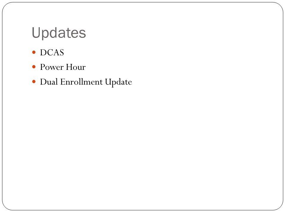 Updates DCAS Power Hour Dual Enrollment Update