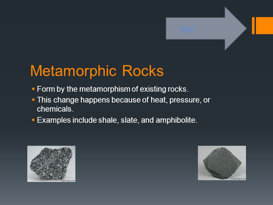 Sedimentary Rocks  Formed by the deposition of material on the surface or under water.