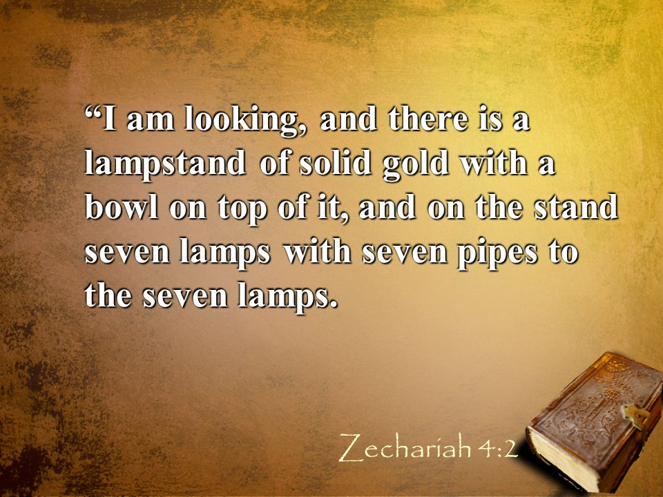 Then the angel who talked with me answered and said to me, Do you not know what these are? And I said, No, my lord. Zechariah 4:5-6