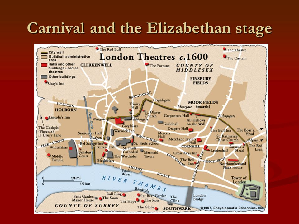 Carnival and the Elizabethan stage