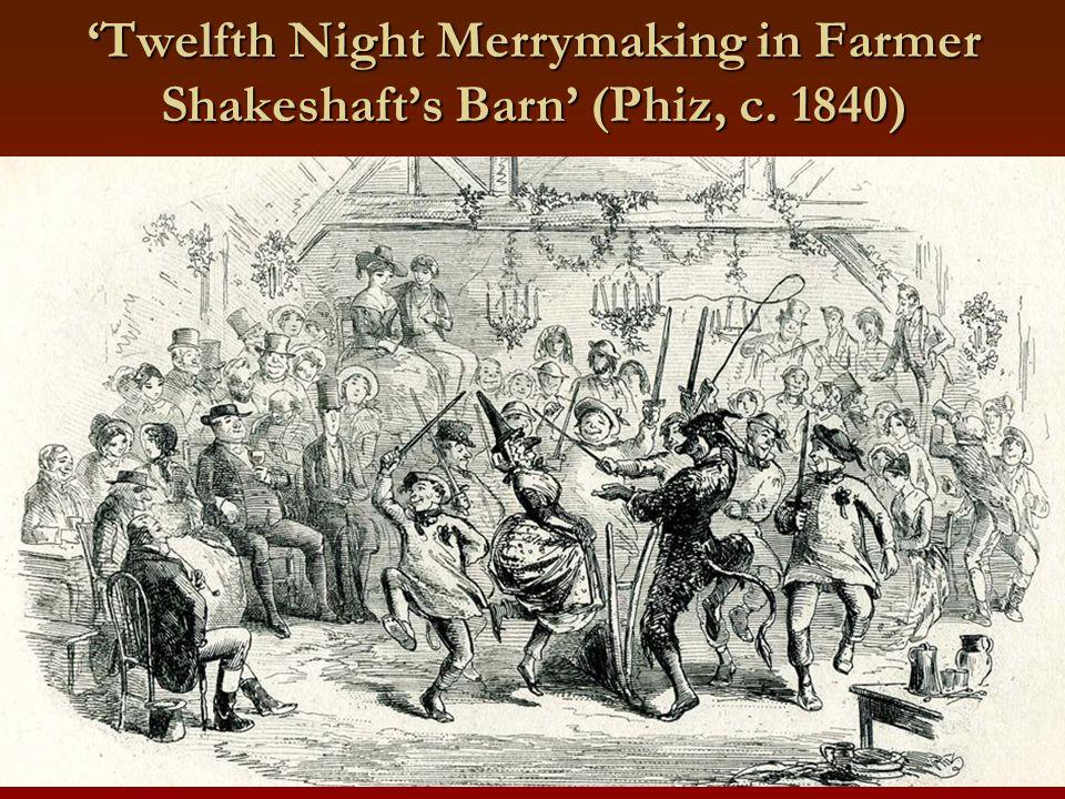 'Twelfth Night Merrymaking in Farmer Shakeshaft's Barn' (Phiz, c. 1840)