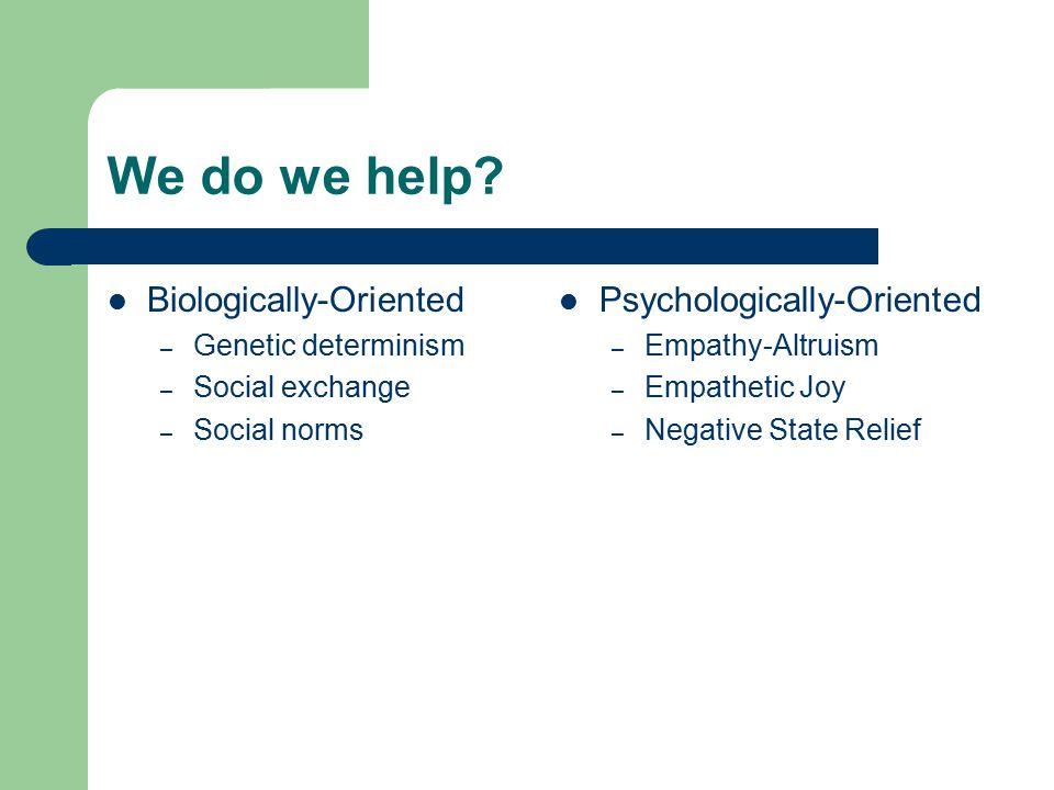 We do we help.