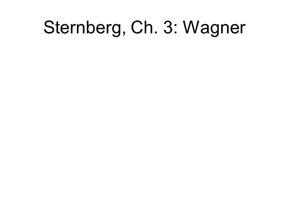 Sternberg, Ch. 3: Wagner